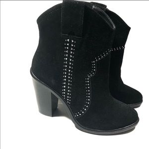 Joie black studded suede ankle boots size 37.5